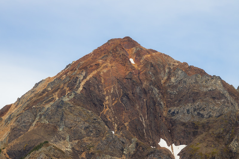Whatcom, Winchester Mountain - Mt. Larrabee with light blue sky