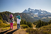 Whatcom, Artist Point - Two little kids looking over valley at Mt. Shuksan