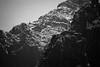 Rainy Pass, Easy Pass - Ridges below the pass, black and white