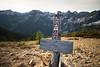 Rainy Pass, Cutthroat Pass - Pacific Crest Trail sign at Cutthroat Pass
