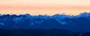 Harts Pass, Slate Peak - Endless sea of peaks after sunset