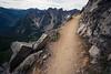 Snoqualmie Pass, PCT North - Dropoff alongside Kendall Katwalk