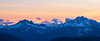 Harts Pass, Slate Peak - Mt. Baker in the distance just after sunset, panoramic
