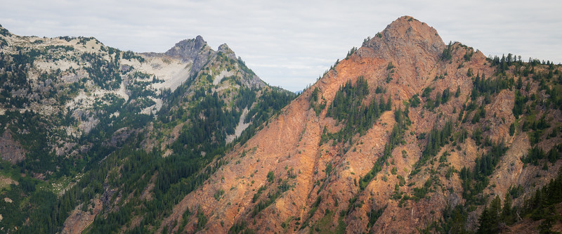 Snoqualmie Pass, PCT North - Red Mountain contrasted against the surrounding mountains
