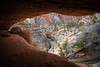 Zion, Canyon Overlook - View out of large cave