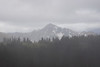 Pasayten, Horseshoe Basin - Distant mountain barely visible in rain storm