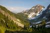 North Cascades, Cascade Pass - View from pass down valley towards Stehekin