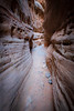 Valley of Fire, White Domes Slot Canyon - Entering the slot, vertical