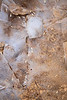 Zion, Clear Creek - Ice with sand in bottom of the wash