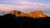 Stuart, Ingalls - Alpenglow on nearby peaks at sunrise with deep shadow