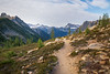 Rainy Pass, Cutthroat Pass - Pacific Crest Trail leading down into Porcupine Valley