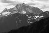 Harts Pass, Windy Pass - Layers of distant peaks, black and white