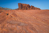 Valley of Fire, Fire Wave - Interesting sandstone patterns and distant rock