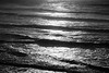 Kalaloch, Beach 1 - Waves rolling in at sunset, black and white