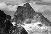 North Cascades, Thornton Lakes - Mt. Triumph close up, black and white
