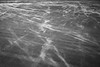 Grays Harbor, Grayland Beach - Patterns in wind blown sand, black and white