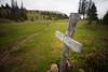 Pasayten, Horseshoe Basin - Goodenough Peak sign in Horseshoe Basin