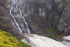 North Cascades, Cascade Pass - Pair of waterfalls off of Johannesburg Mountain