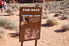 Valley of Fire, Fire Wave - Trail sign at start of hike