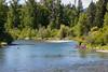 Kittitas, Iron Horse Trail - Man flyfishing in Yakima River