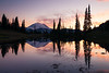 Rainier, Tipsoo - Colorful sunset at Upper Tipsoo Lake, tall