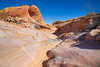Valley of Fire, Kaolin Slot Canyon - Bottom of wash