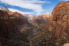 Zion, Canyon Overlook - View of West Temple and Altar of Sacrifice, wide angle