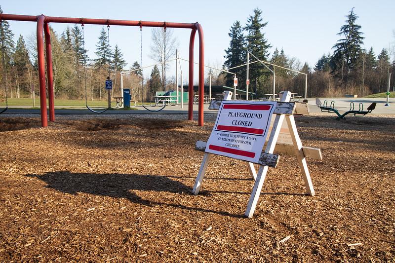 Mill Creek, Willis Tucker - Playground closed sign due to coronavirus