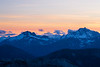 Harts Pass, Slate Peak - Mt. Baker in the distance just after sunset