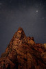 Zion, Big Bend - Rock formations in the starlight