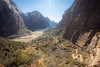 Zion, Angel's Landing - View down the valley from partway up the trail