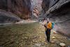 Zion, The Narrows - Confident hiking guide exploring the river