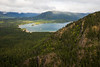 Kittitas, Mt. Baldy - View of Kachess Lake, cloudy