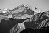 Harts Pass, Slate Peak - Layers of ridges and peaks, black and white
