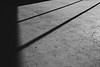Mill Creek, Willis Tucker - Shadows on the amphitheater, black and white