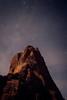 Zion, Angel's Landing - Summit of Angel's Landing in the starlight