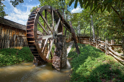 Waterwheel, Georgia, USA.