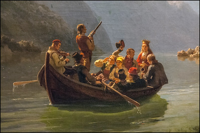 Bridal Procession on the Hardangerfjord by Adolph Tidemand og Hans Gude, 1848, Oslo, Norway museum