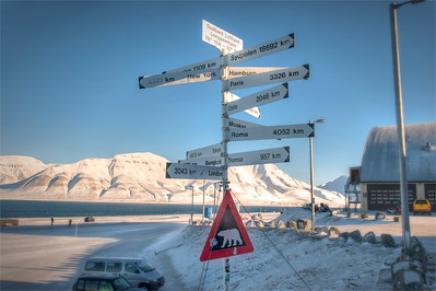 The airport at Longyearbyen, Svalbard, Norway