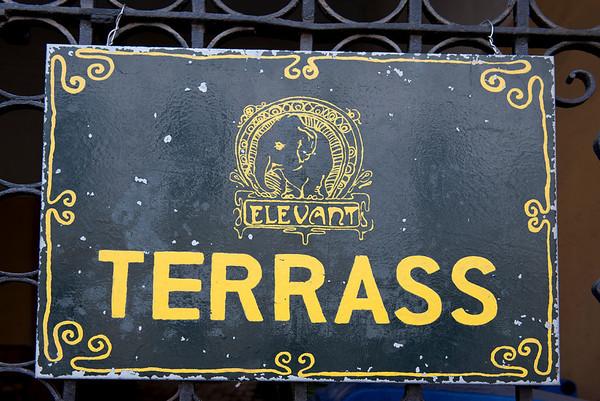 Sign, Tallinn, Estonia.