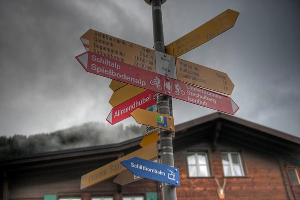 Signpost, Mürren, Switzerland.