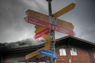 Signpost, Mürren, Switzerland.