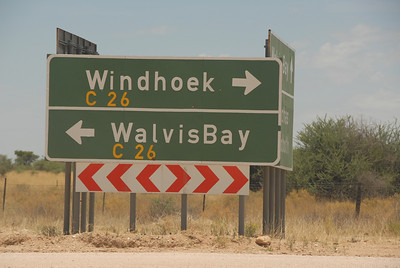 Road sign, Namibia.