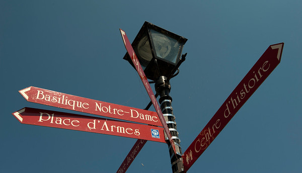 Street Sign, Montreal, Quebec, Canada.