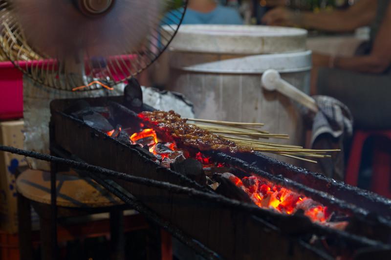 Satay on BBQ