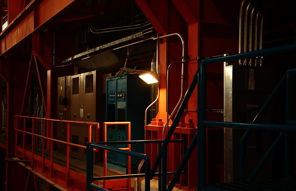 Cozy-looking work gantry at TRIUMF.