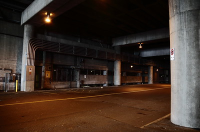 The underground streets near the Vancouver Convention Centre.