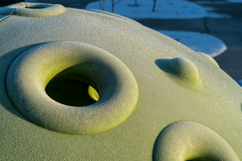 Frost on a playground igloo