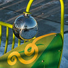 Gazing ball on a playground 'toy'