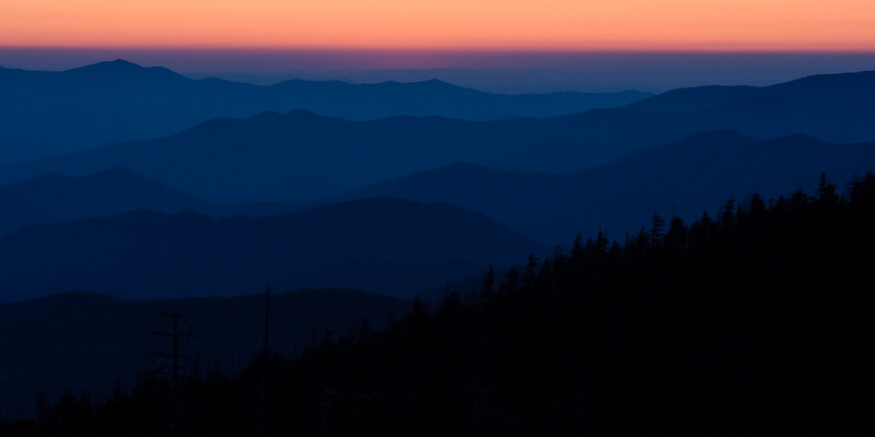 "Sunset ""After Light"" at Clingmans Dome - Great Smokies National Park, NC"